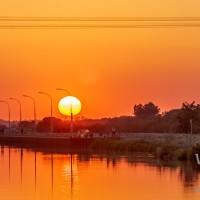 Sonnenuntergang am Mittellandkanal