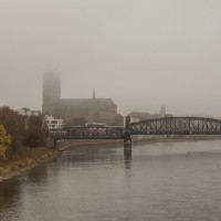 Magdeburger Dom im Nebel