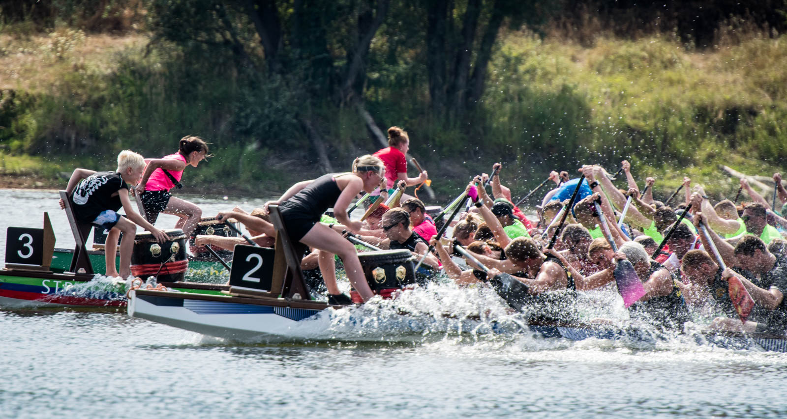 Benefiz-Drachenboot-Cup auf dem Salbker See