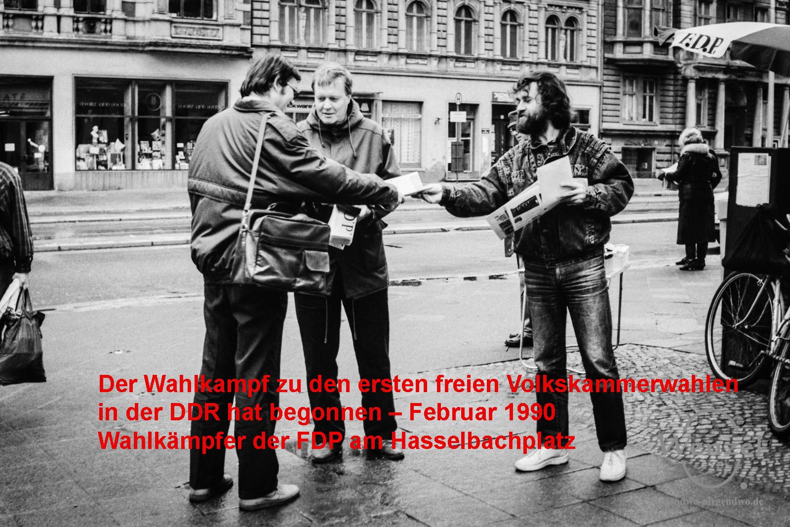 Wahlkampf - Magdeburg März 1990